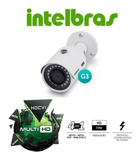 Câmera Multi Hd Vhd 3130b G3 Infra Ahd Hdtvi 2.0 720p 2,8mm