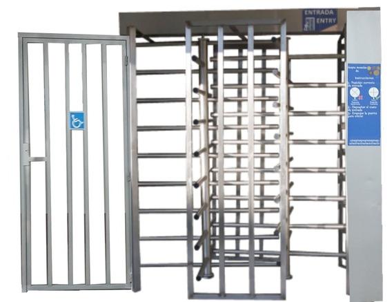 Puerta Giratoria Doble Sistema De Devolución De Cambio