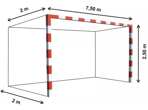 Imagen 1 de 9 de 1 Red Arco Futbol Profesional 7,5x2,5m Cajon 2m Cuerda 3,8mm