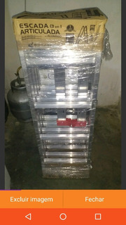 Escada Articulada De Alumínio Botafogo Leia Adiscricao