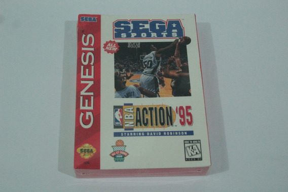Jogo Nba Action 95 Mega Drive Original Americano Lacrado