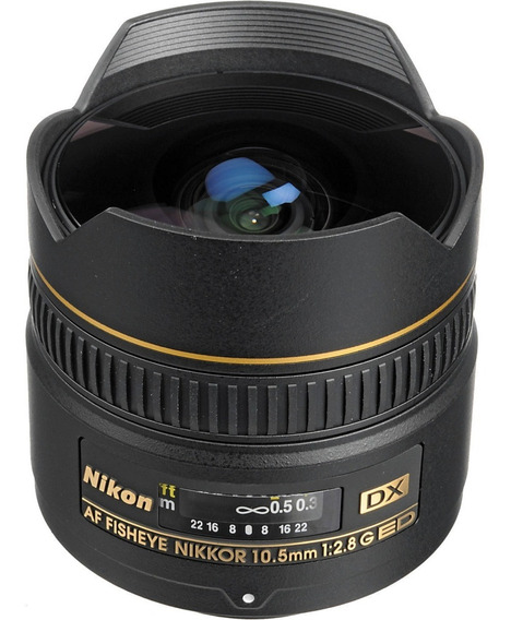 Lente Profissional Nikon Fisheye Af Dx 10.5mm F/2.8g Ed**