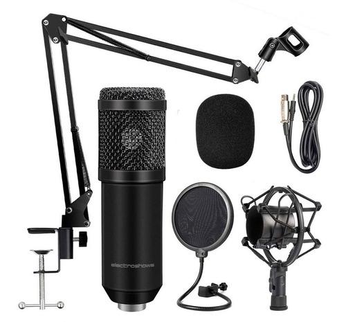 Imagen 1 de 10 de Microfono Condenser Kit Estudio Profesional Streamer Plug