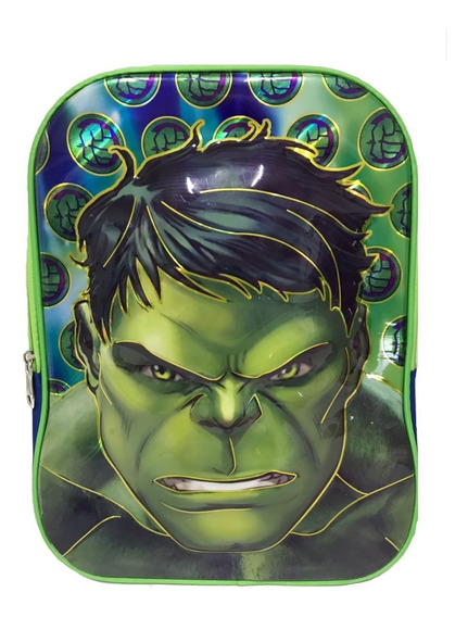 Mochila Escolar Infantil Personagens Hulk