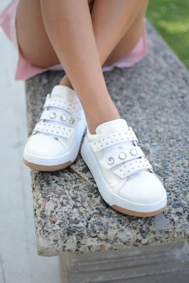 Zapatillas Con Tachas Y Piedras