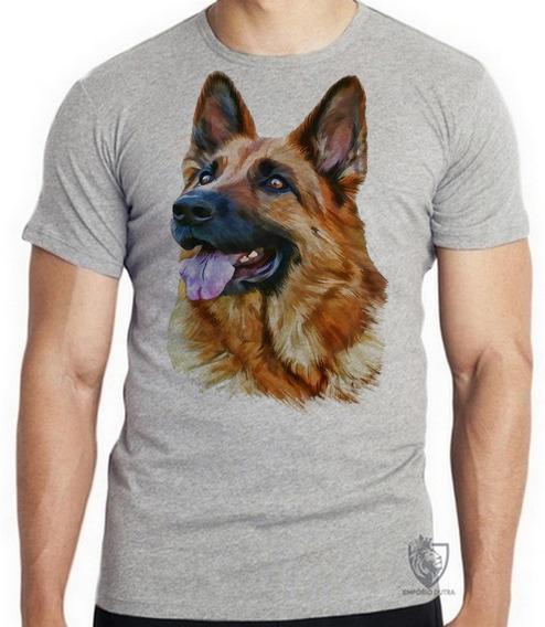 Camiseta Blusa Infantil Cachorro Cão Dog Pastor Alemão Ger