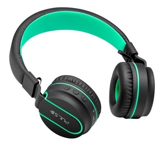 Headphone Bluetooth Preto E Verde Fone De Ouvido Pulse Ph215