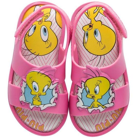 Sandalia Infantil Grendene Looney Tunes Warner Baby 22180