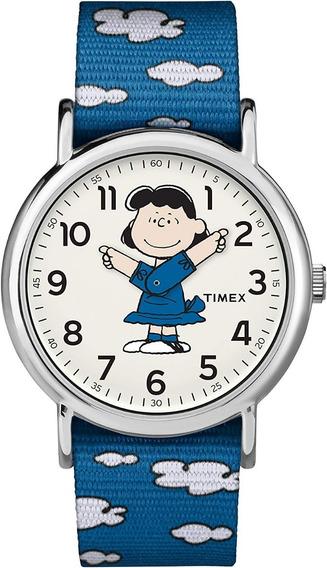 Reloj Timex Lucy Peanuts Snoopy Limited Edition Azul Blue Tw