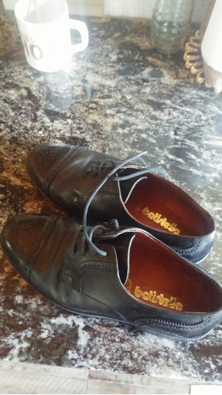 Zapatos De Charol Cuero Fondo Suela Cementado