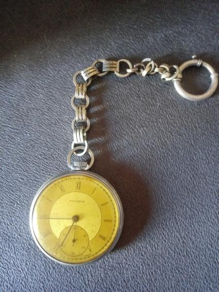 Relógio De Bolso Antigo Novoris