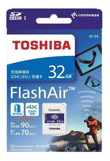 Cartão De Memória Sd Wifi Toshiba Flashair 32gb