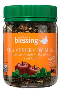 Chá Orgânico Verde Com Maça 100 G