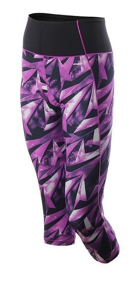 adidas Calza 3/4 Training Mujer High-rise Aop Violeta