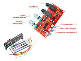 Kit Pré Amplificador.microfone Processador De Efeito+bluetoo