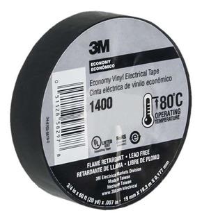 Cinta Electrica Negra 3m Teipe Negro Electrico Original 3 M