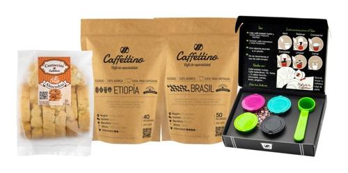 Kit Tentación Nespresso Centroamérica Con Cantuccini