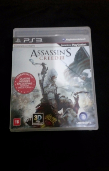 Assassins Creed Iii - Ps3 - Carta Registrada R$ 12