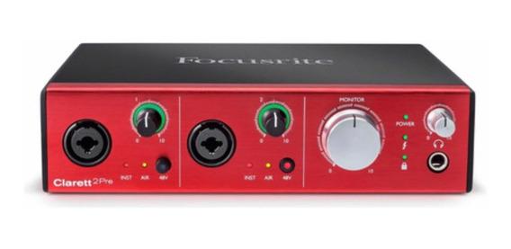 Interface De Áudio Thunderbolt Clarett 2pré Focusrite Nf