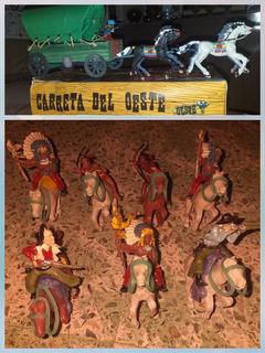 Carreta Oeste De Los 70s + Indios, Ind. Argentina(ver Fotos)