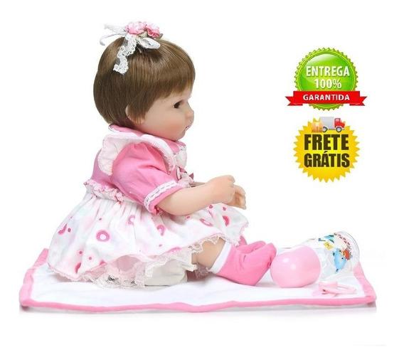 Boneca Bebê Reborn Luana 40 Cm