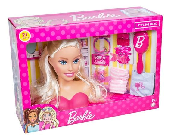 Barbie Styling Head Busto Para Pentear Com 21 Acessórios
