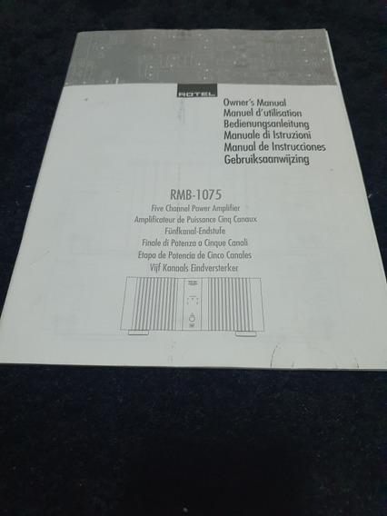 Manual Original Rotel 1075