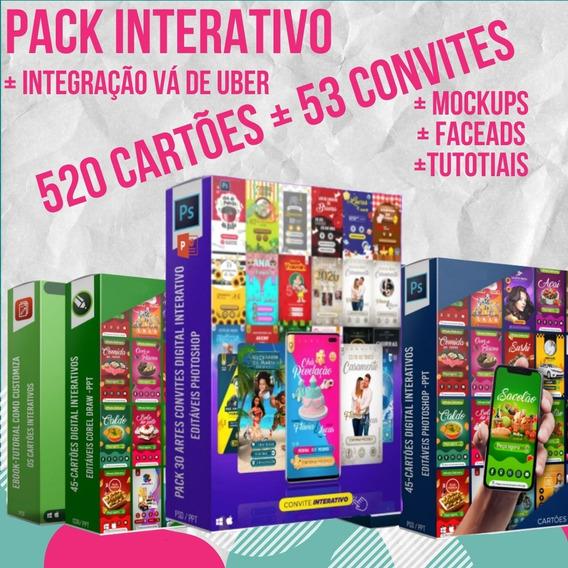 Pack 100% Interativo Com 520 Cartões E 53 Convites Cdr Ppt