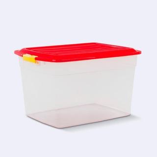 Caja Plastica Apilable Col Box X34 Lts Colombraro Con Tapa