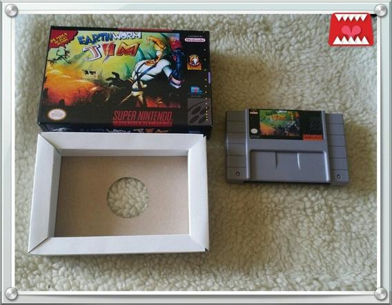 Earthworm Jim Paralelo + Caixa E Berço Super Nintendo Snes