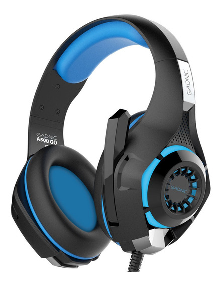 Auriculares Gaming Gadnic Play 4 Mic Luz Led Usb Pc Xbox