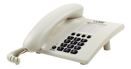 Telefone Com Fio T-klar Speaker Sk1010 Branco Vivavoz Outlet