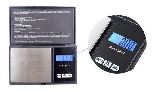 Balanza Digital Precisión 0,01g - 500g Portátil Joyero Led