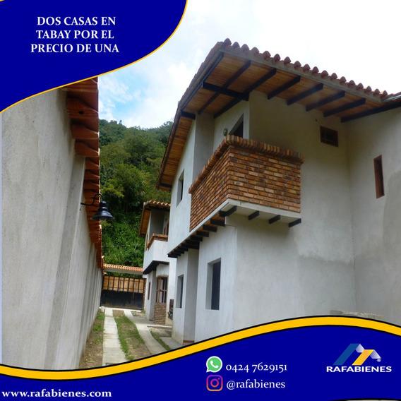 Dos Casas A Estrenar Por El Precio De Una En Tabay Merida.