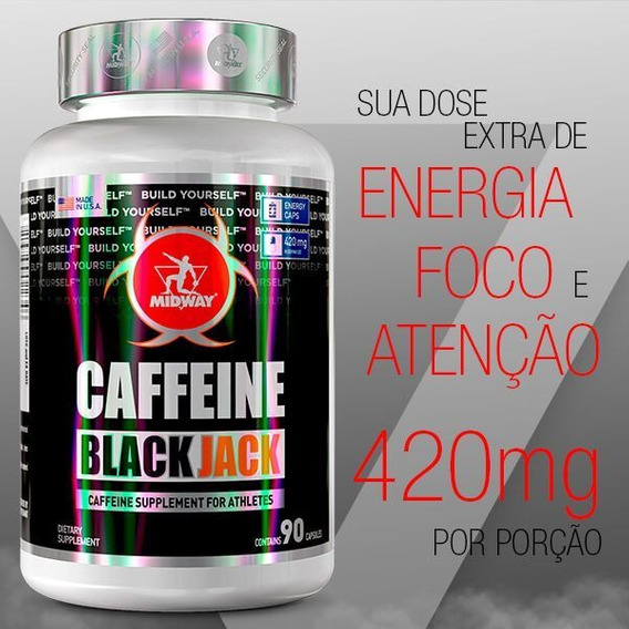 Caffeine Black Jack - 90 Caps - Cafeina Energia