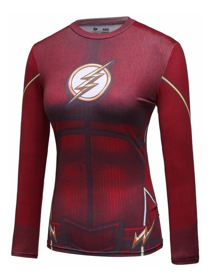 Camiseta Flash Dama Super Heroes Deportiva Gym Crossfit