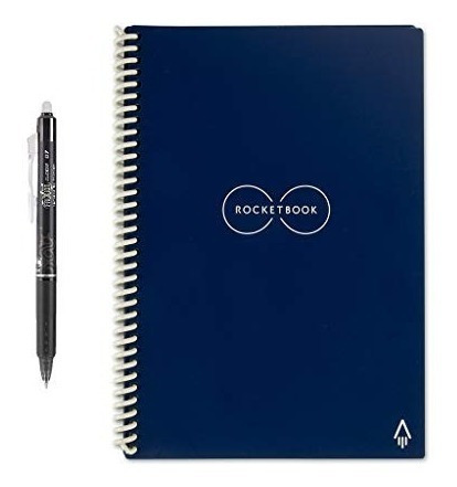 Rocketbook - Cuaderno De Espiral Reutilizable Borrable, Azu