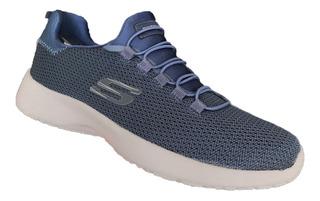 Tenis Skechers Hombre 58360/nvy Dinamight Marino Memory Foam