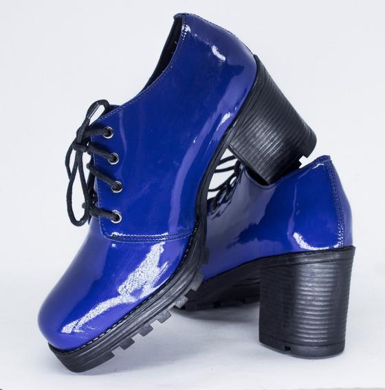 Sapato Tratorado Feminino Em Couro + Brinde