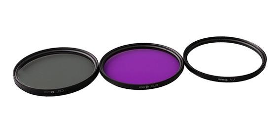 Magideal 49mm Filtro De Vidro Profissional Estojo Uv + Cpl +