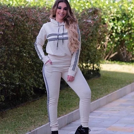 Conjunto Moletom Blusa E Calça Skinny Metelasse Lançamento