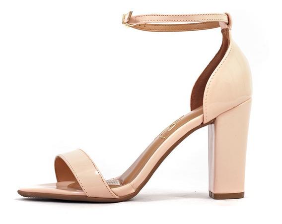 Sandalias Clásica Mujer Yazmin Zapato Charol Massimo Chiesa