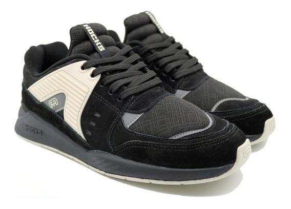 Tênis Hocks Pulsus Sneaker Black Preto White Original