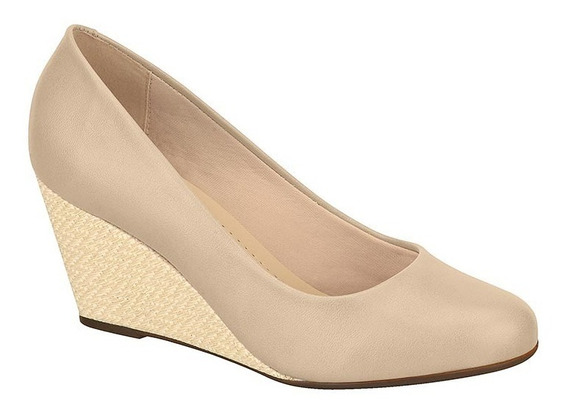 Sapato Bege Anabela Moleca