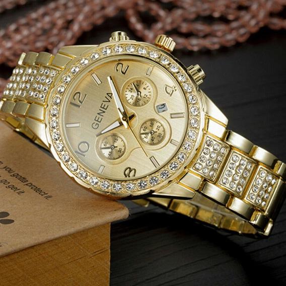 Relógios Femininos Original Geneva 2812 - Dourado
