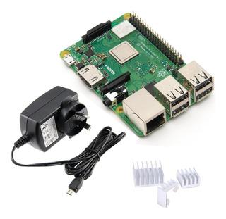 Raspberry Pi 3 B+ Plus Kit Fuente Certificada Disipadores