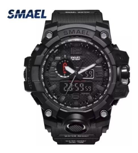 Relógios Masculino Esportivo Militar Smael Original - Preto