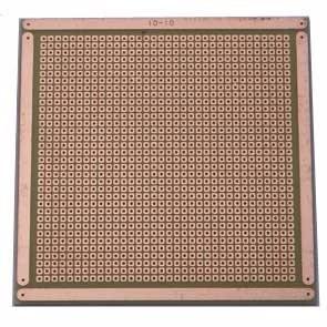 Placa De Fenolite Ilhada 10 X 10 Cm Pcb Perfurada Padrão