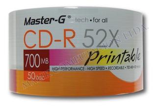 4 X Torta 50 Uni. Cd Imprimible Master-g 52x 700mb 80 Min