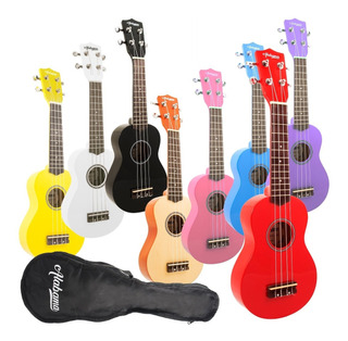 Ukelele Soprano Alabama Us-101 Colores Con Funda - Full